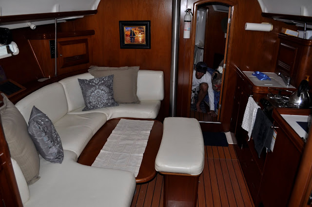 Interior boat picture before