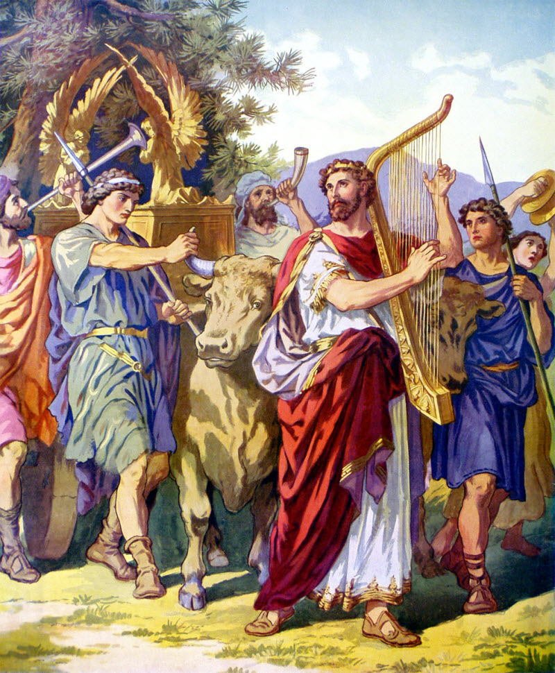 David and the Ark when brought up to Jerusalem.