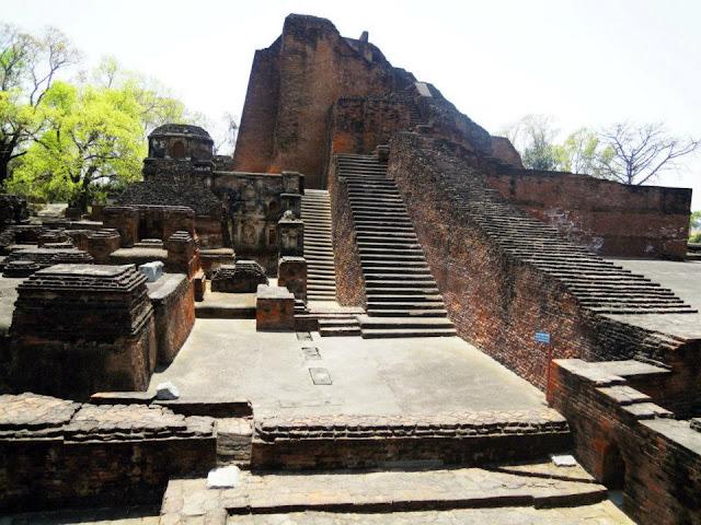 The impressive stupa of Sariputta at Nalanda built by Emperor Ashoka in the 3rd century BC