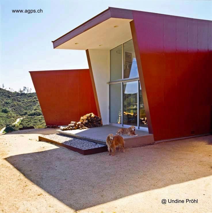 Sector de la casa orgánica del Cañón Topanga