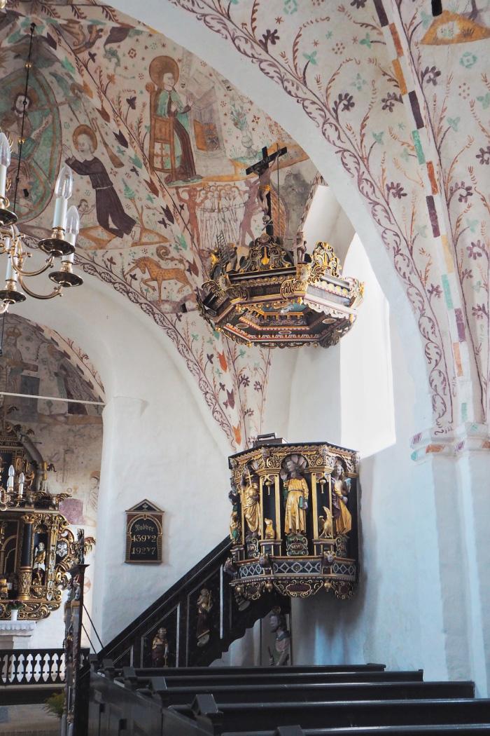 Peintures médiévales de l'église danoise de Elmelunde au Danemark