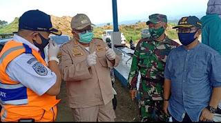 PSBB Hari Ke-2 Kab. Sukabumi, Bupati Monitoring Posko Check Point