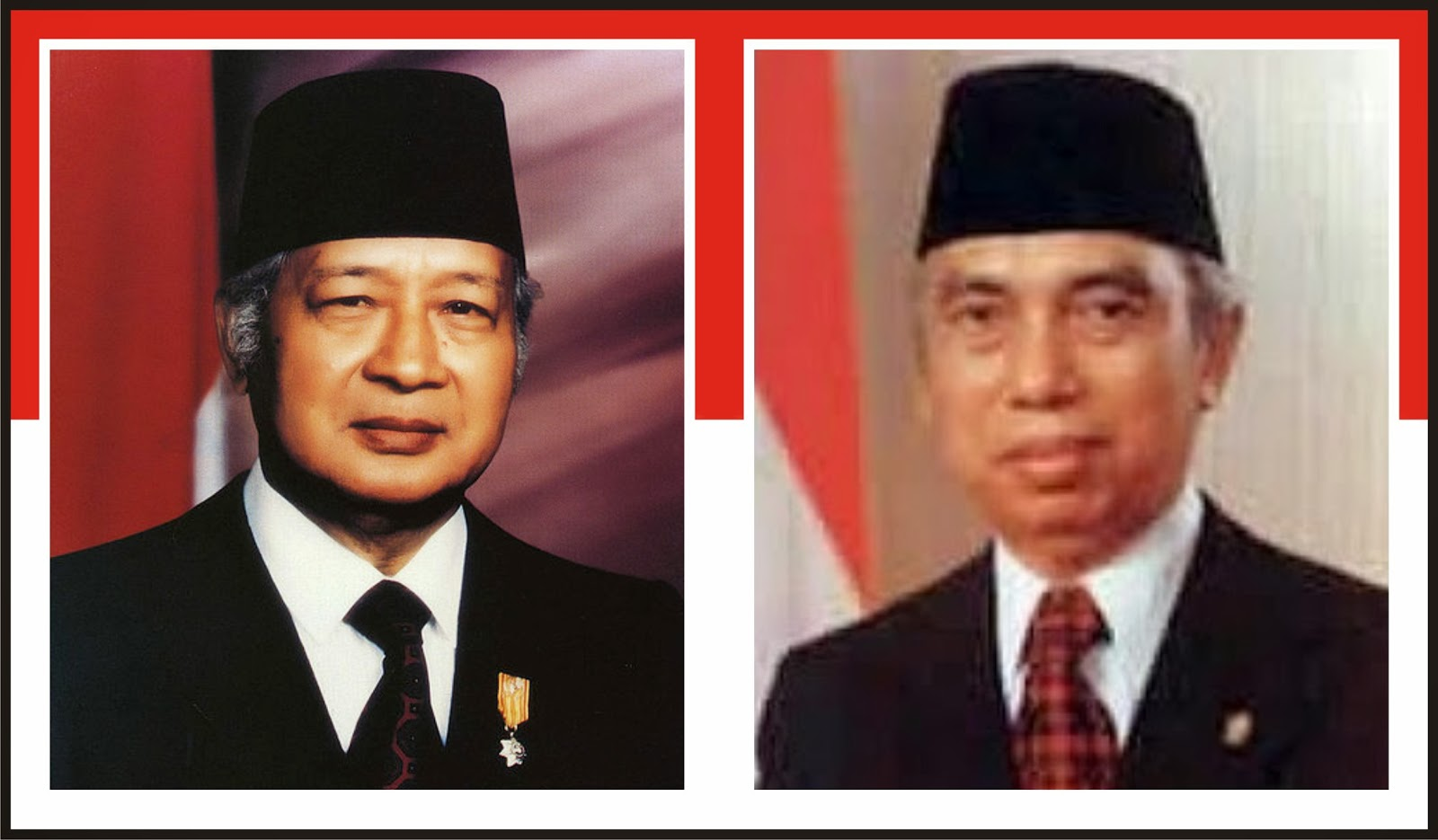 Gambar Presiden Soeharto dan Adam Malik