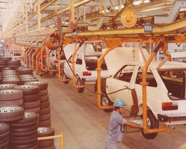VW Gol 1980 - produção