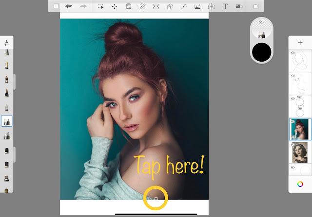 Color Picker function in Autodesk SketchBook App