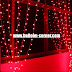 Red LED Curtain Lights / Lampu Tirai LED Merah