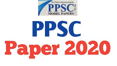 PPSC ASSISTANT (BS-16) PAPER 2020
