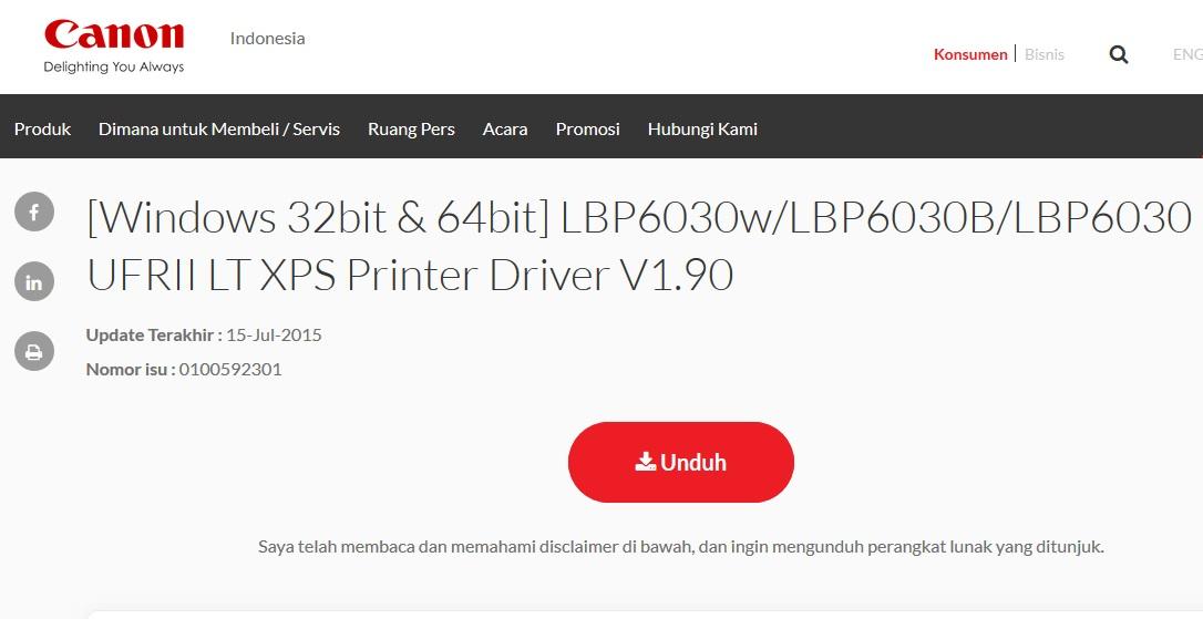 Download Driver Canon LBP 6030 32/64 Bit