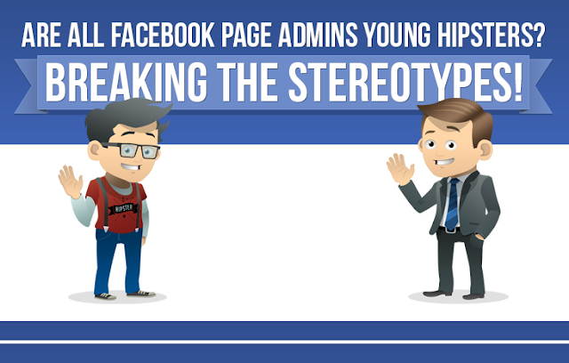 Are-All-Facebook-Page-Admins-Young-Hipsters #Infographic