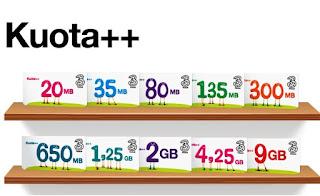Harga Paket Internet 3 Tri 4G LTE Kuota dan Tarif Terbaru