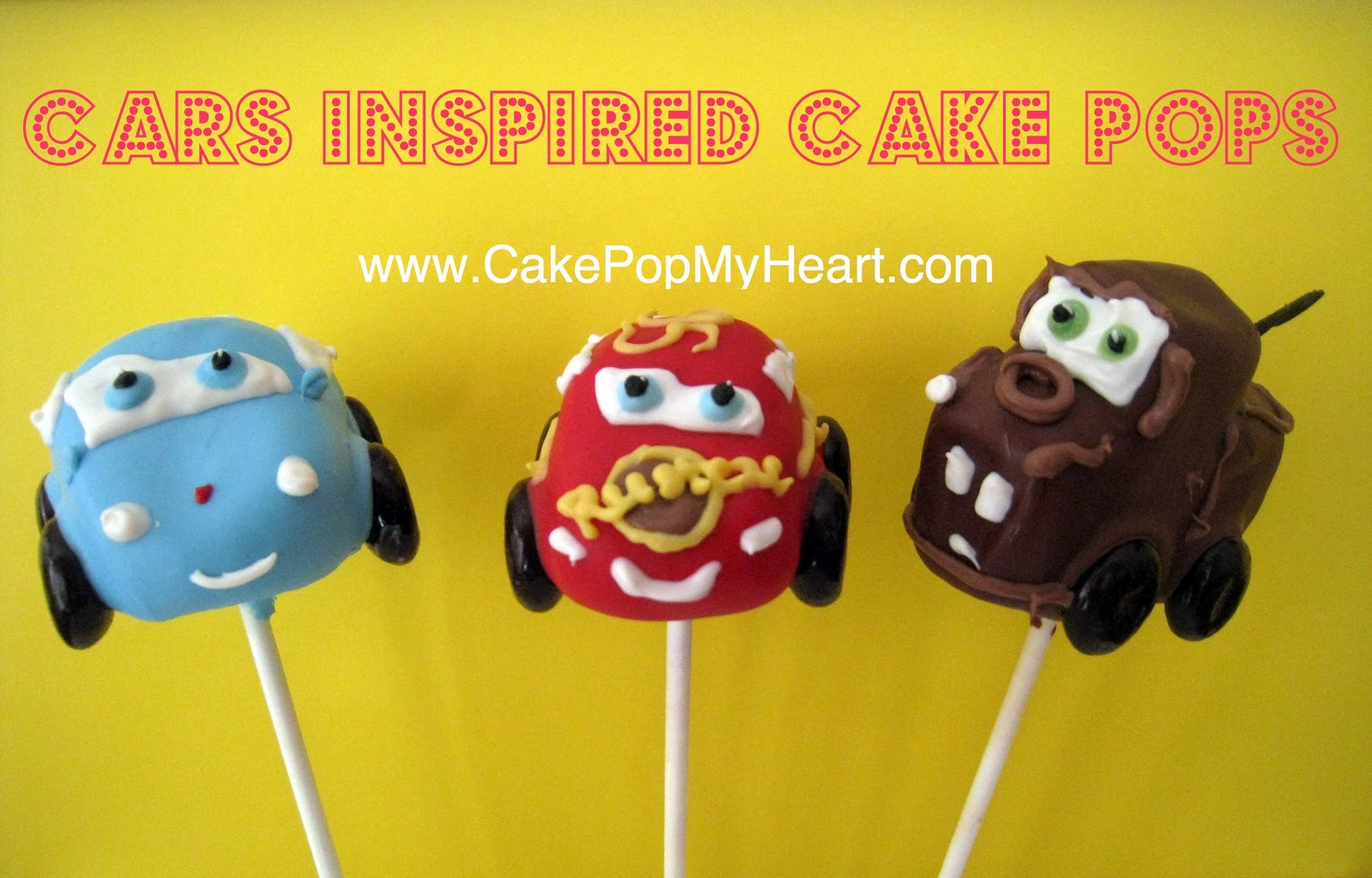Cake Pop My Heart Cars Inspired Cake Pops
