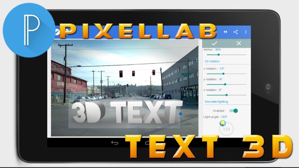 celular tablet com texto em 3d
