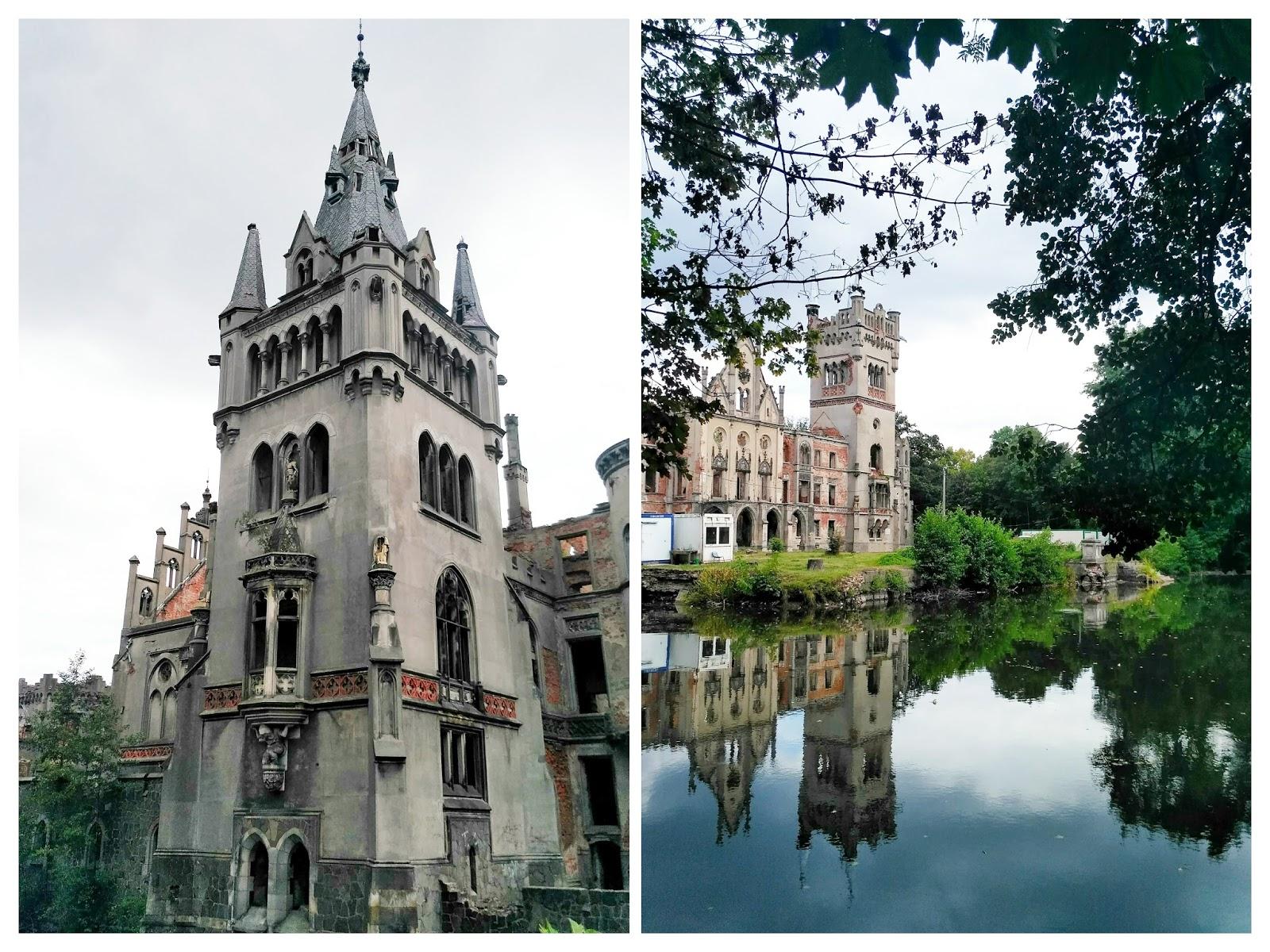 Pałac w Kopicach | Ruiny pałacu Schaffgotschów