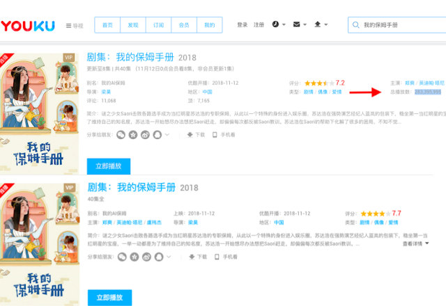 Youku turns off view count