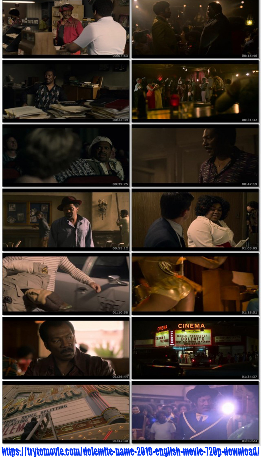 Dolemite Is My Name 2019 English Movie 720p Download