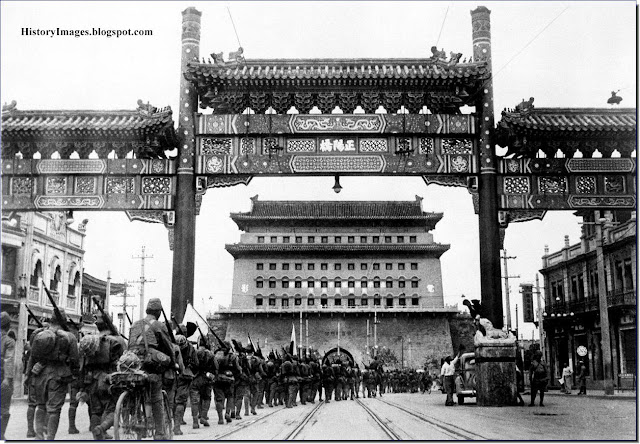 Japan occupies Beijing August 13 1937