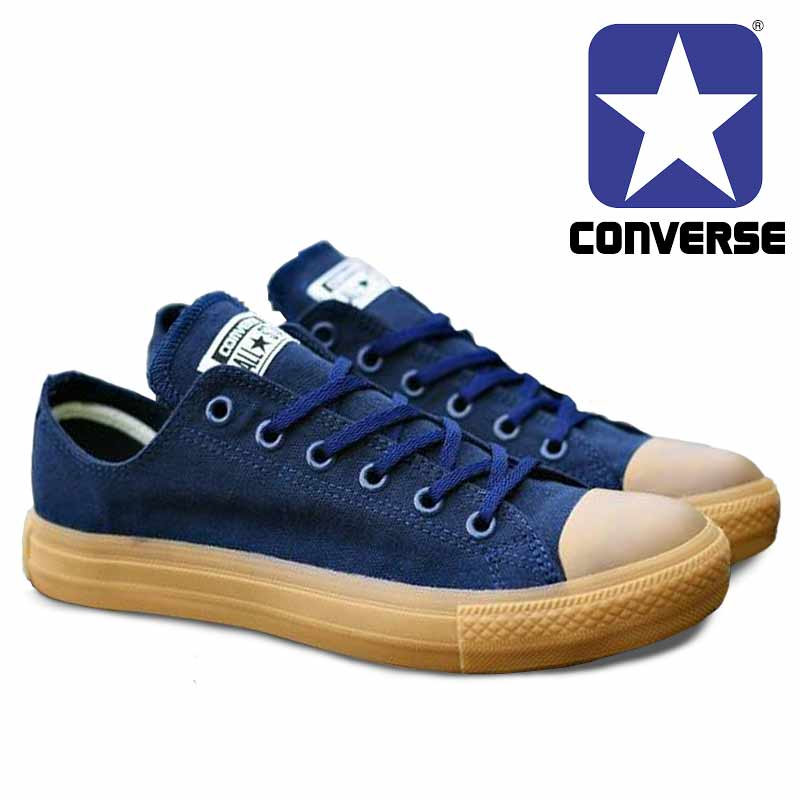 Sepatu ConverseAll Star Navy GUM Color [CL-008] | Omsepatu.com