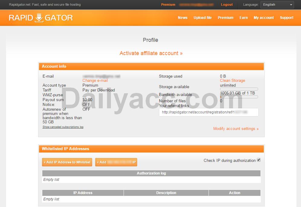 x2 Rapidgator.ne Premium Accounts April 21, 2017