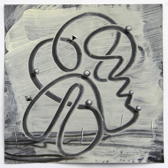 Lenneke van der Goot Flow #2, 2019 mixed media on paper 25 x 25 cm