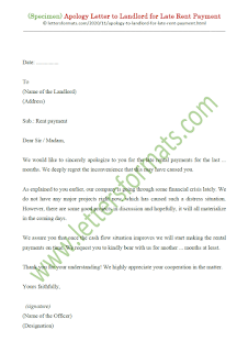 sample apology letter to landlord for late rent payment