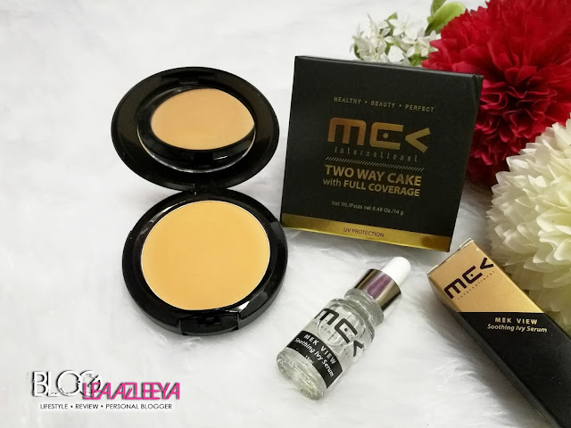 Mek View International, Two Way Cake With Full Coverage, Soothing Ivy Serum, compact powder, foundation, serum