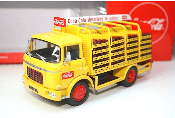 berliet gak 5 1:43 coca cola, camions et camionnettes coca-cola 1:43 altaya