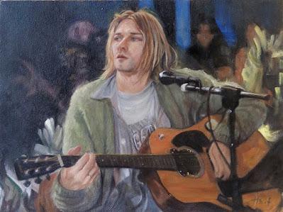 Painting of Kurt Cobain