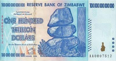 Dólar zimbabuano