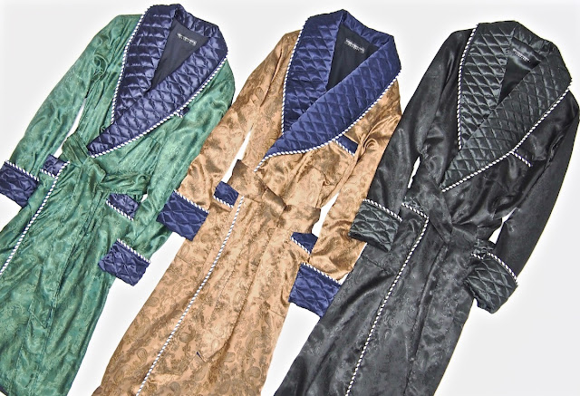 mens paisley silk robe quilted extra long dressing gown lightweight full length