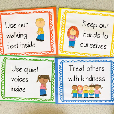 Class rules help young preschool and early elementary students understand what is expected of them and how to behave at school.