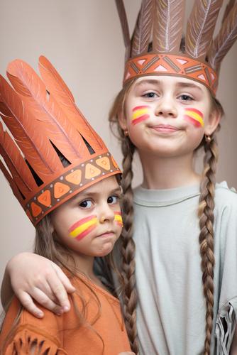 Como hacer un maquillaje infantil de indio
