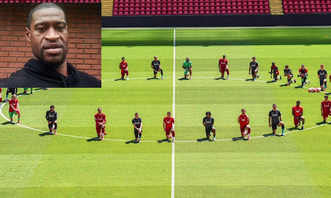 Les joueurs de Liverpool ont fait preuve de solidarité avec le mouvement Black Lives Matter pendant la formation
