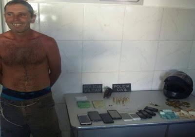 Polícia prende foragido de PE que cometia assaltos em Serra Branca e S J dos Cordeiros