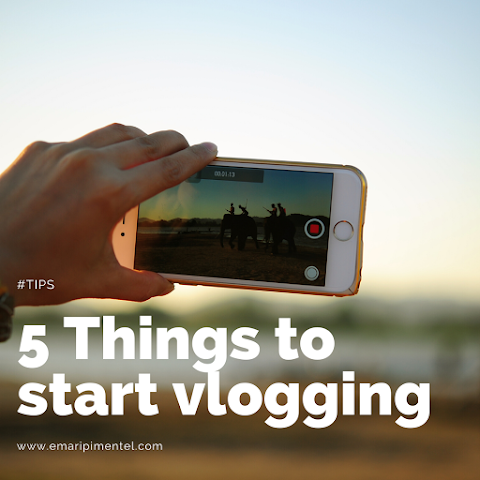 5 things to when when starting a vlog