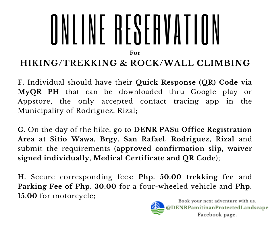 Mt. Pamitinan | Mt. Binicayan | Mt. Hapunan Banoy Online Reservation for Hiking, Trekking and Rock/Wall Climbing