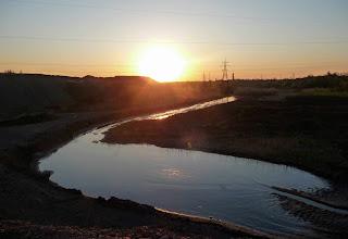 У балку Сінну скидаються шламові води шахти № 5-6.