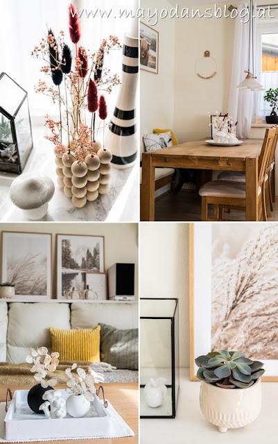 Herbstlich dekoriertes Wohnzimmer