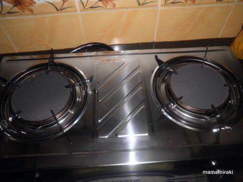 Dapur Stainless Steel Senang Tak Berkarat Dan Boleh Masak Se Hati Hehehheeh Tapi Kurang Comellah Kalau Nak Bandingkan Dengan Yang Tempered