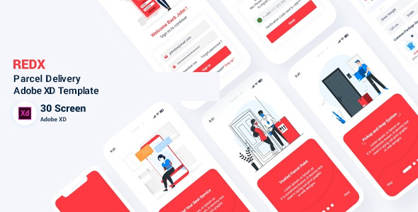 Best Parcel Delivery Adobe XD Template