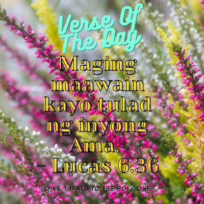 Bible Verse Of The Day Tagalog  September 24 2020  Give Thanks To The Holy One Photo
