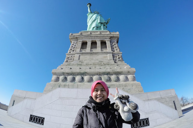 Farah H at the Statue of Liberty, New York City, USA
