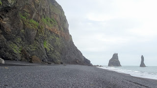Black sand on south of iceland