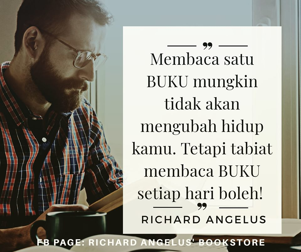 richard angelus thoughts angelus quote tabiat membaca buku