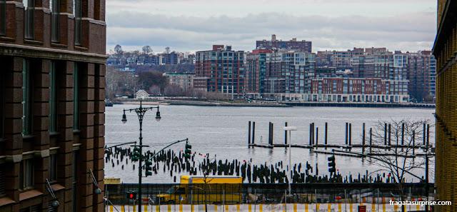 O Rio Hudson visto do parque High Line, em Nova York