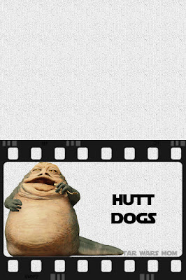 Hutt Dogs Hot Dogs Star Wars Party Food Label