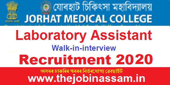 Jorhat Medical College & Hospital Recruitment 2020