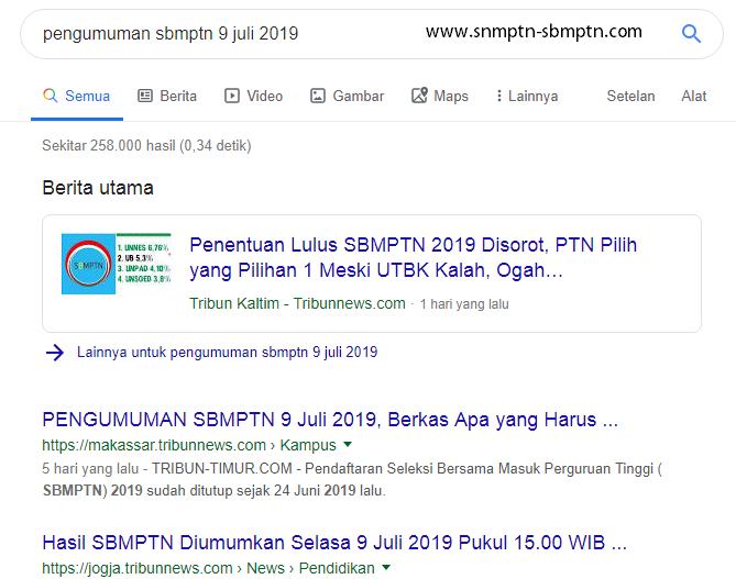 3 Cara Intip Pengumuman Hasil SBMPTN 9 Juli 2019 img