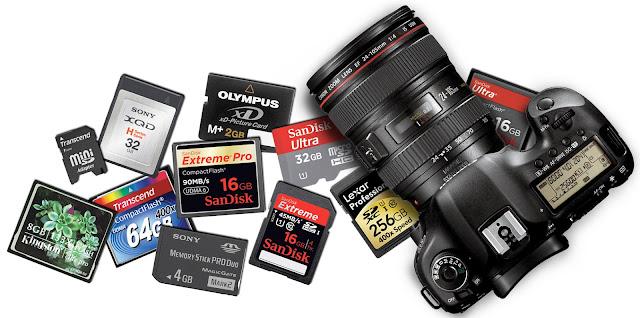 Jenis memory card yang sesuai atau yang cocok untuk kamera DSLR adalah jenis SD Card atau lebih tepatnya SDHC. walaupun ada jenis memory lainnya seperti MMC, SDXC, CF, XD Picture dan Stick Duo