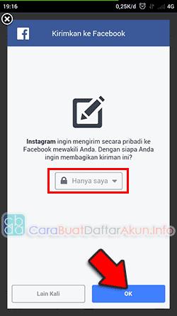 cara menghubungkan facebook dengan instagram lewat hp