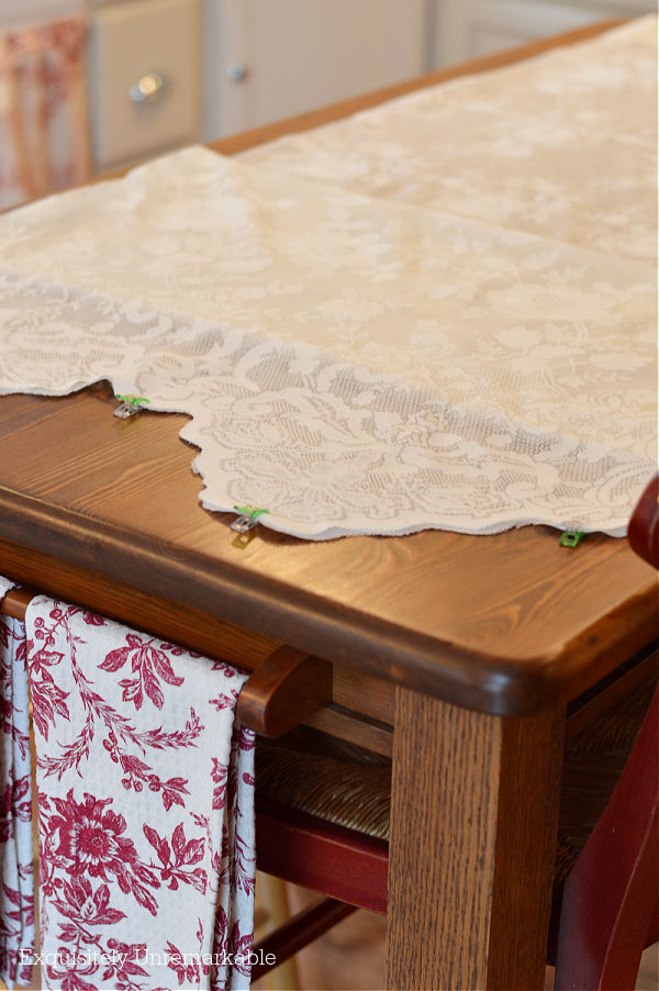 Clips on lace panels